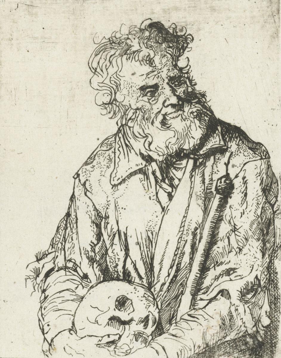 Ян Ливенс. Отшельник с черепом