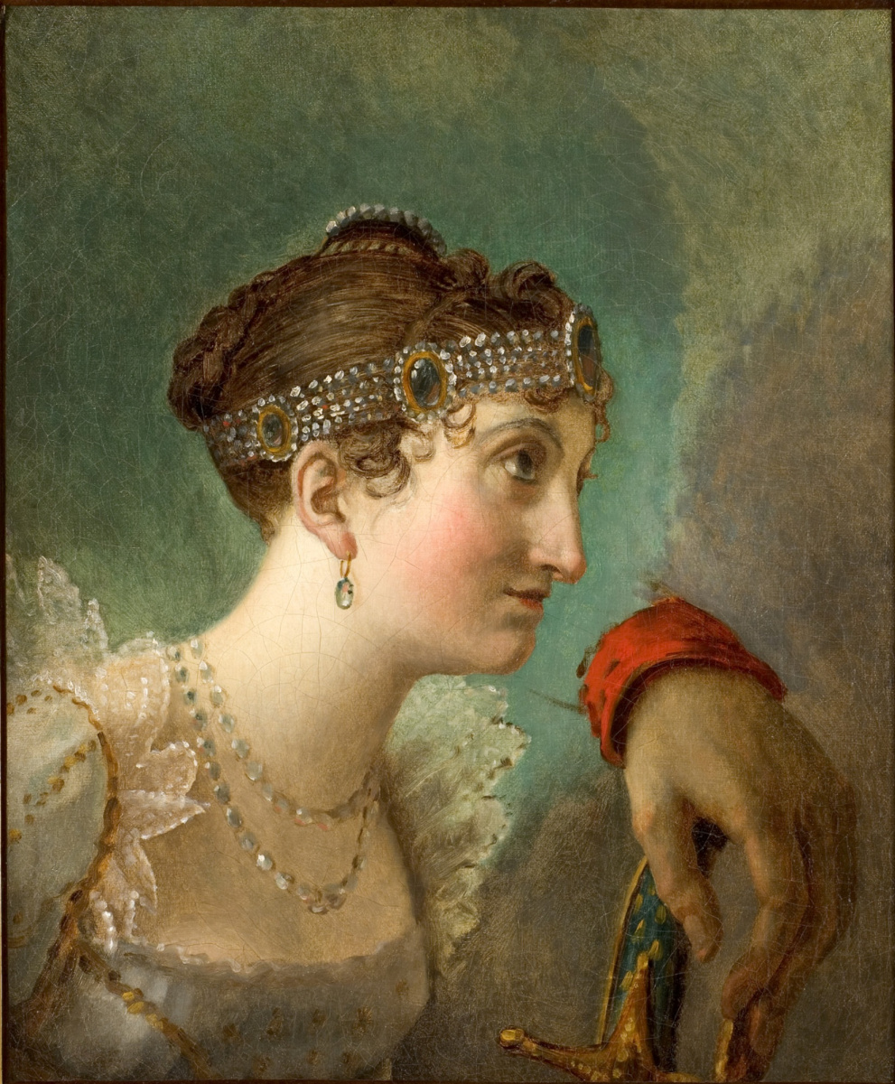 "Jacques-Louis David. Portrait Of Josephine. A sketch for the painting ""Coronation of Napoleon"""