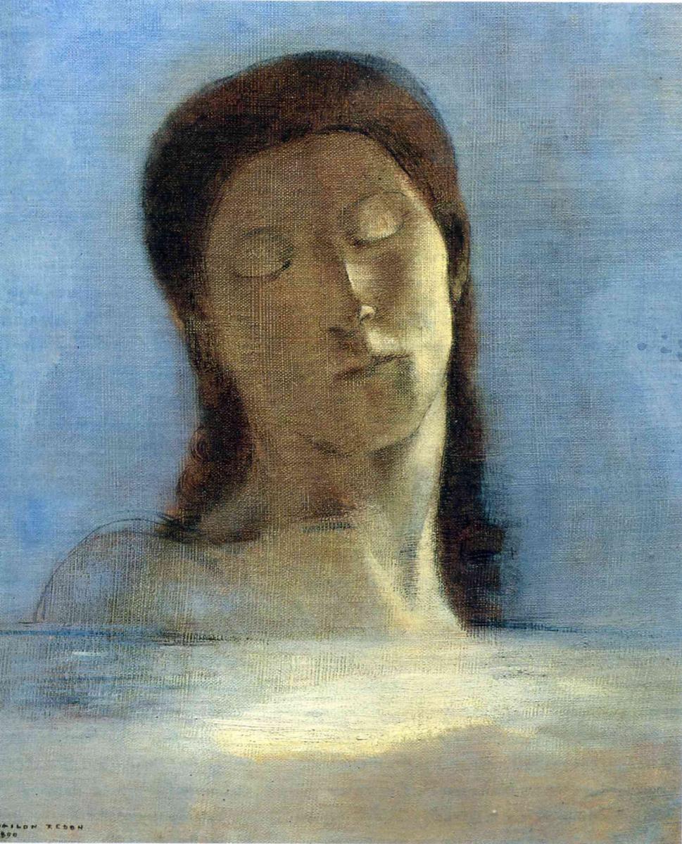 Одилон Редон. Девушка с закрытыми глазами