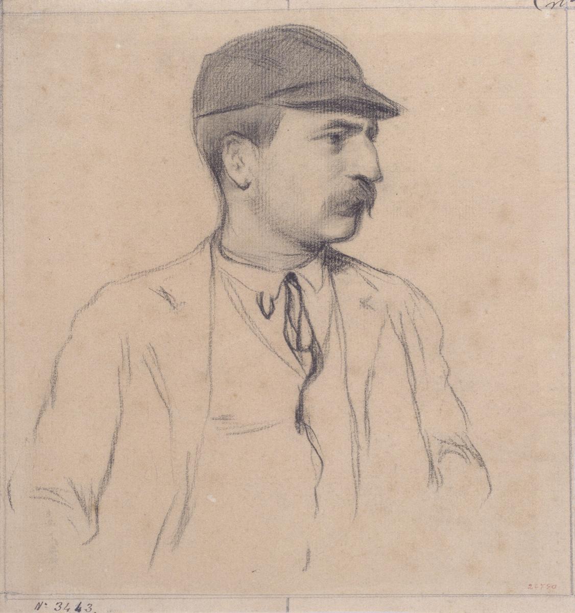 Santiago Rusignol. Portrait of Genís Muntaner