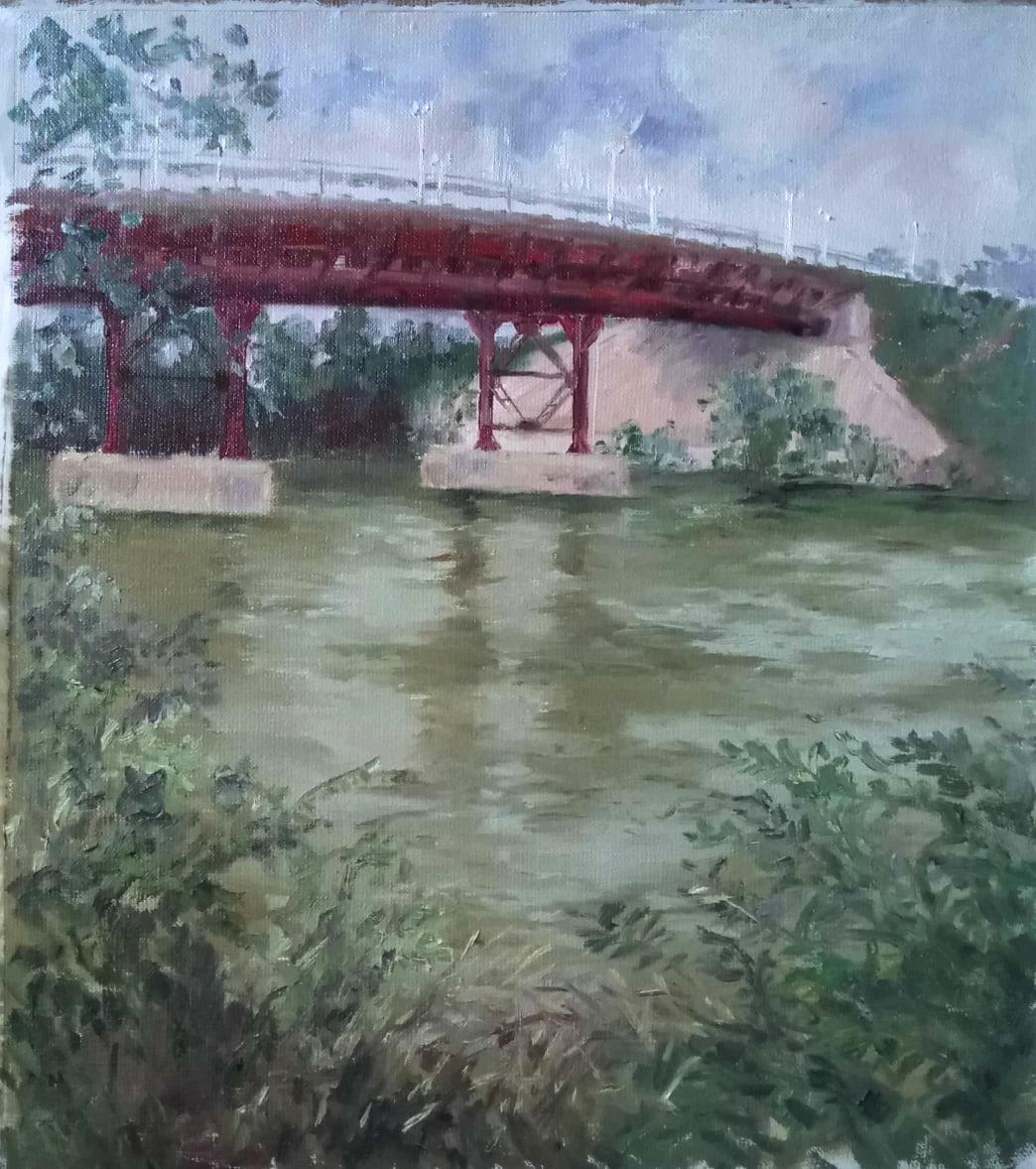 Christina Shchekina. The Kuban River. Etude