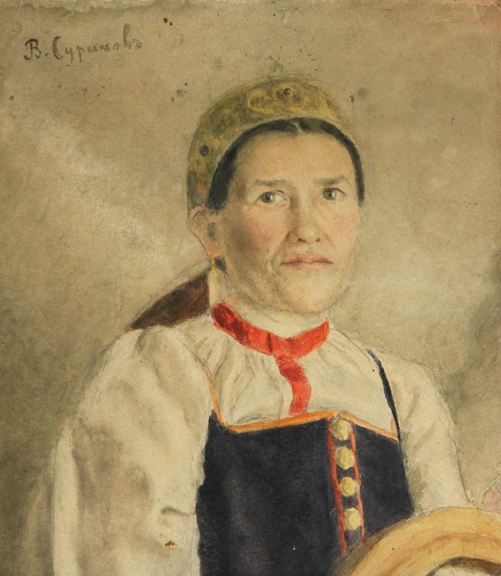 Василий Иванович Суриков. Крестьянка