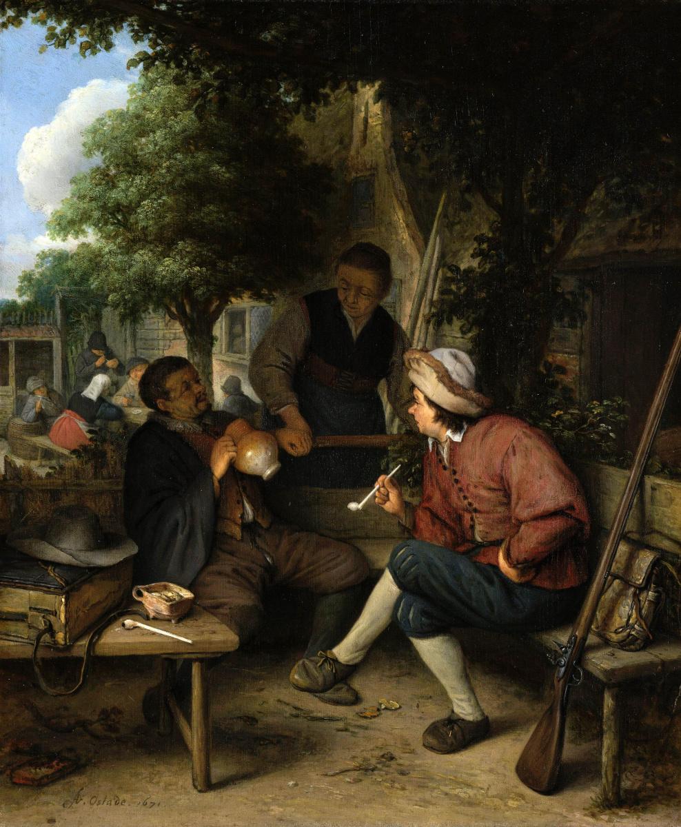 Adrian Jans van Ostade. Vacationers travelers