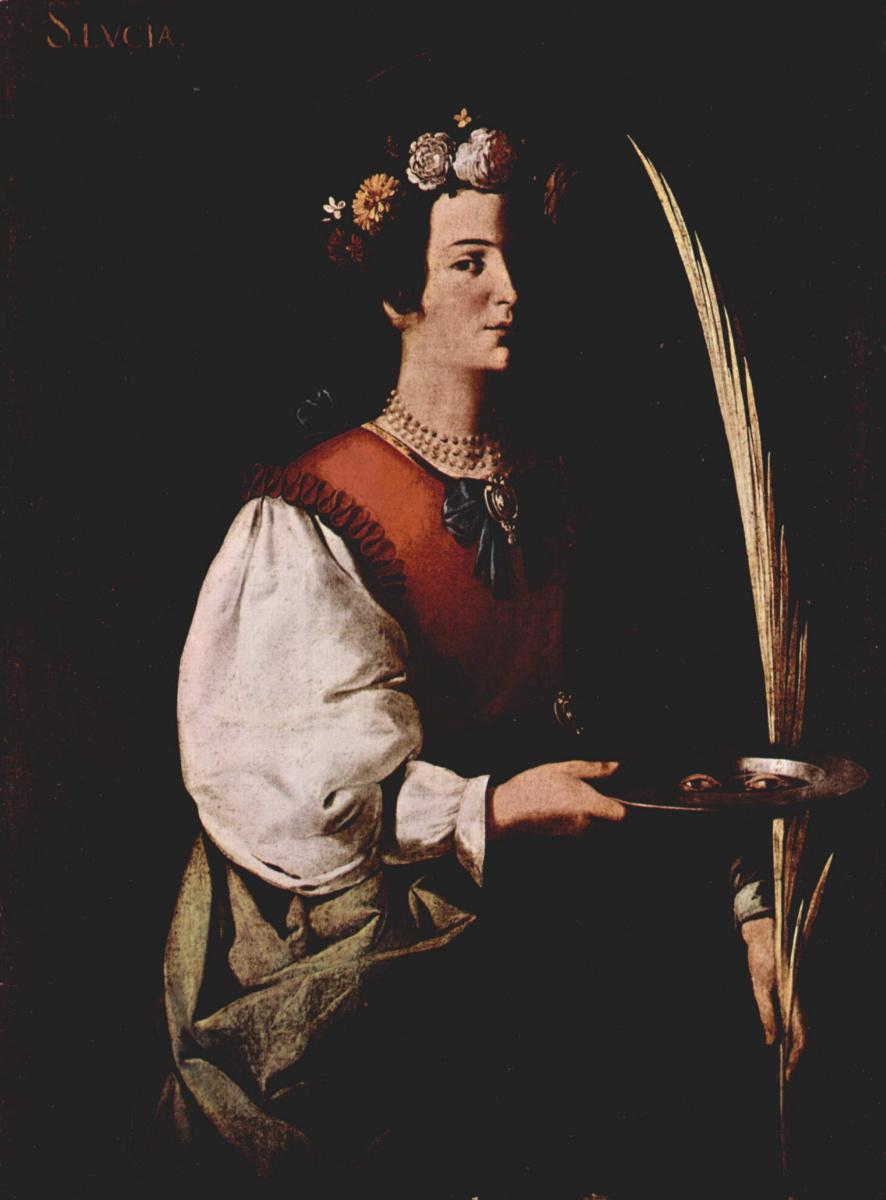 Франсиско де Сурбаран. Св. Лусия