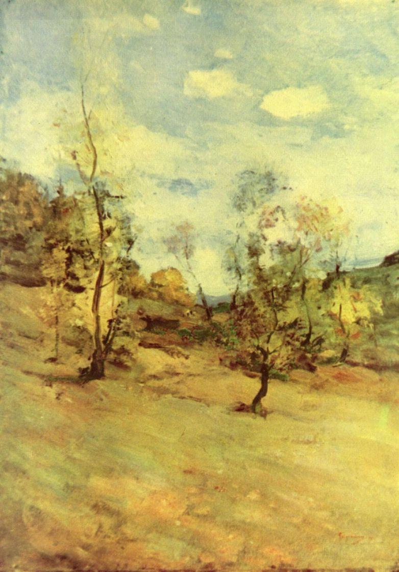 Николае Григореску. Пейзаж с деревьями