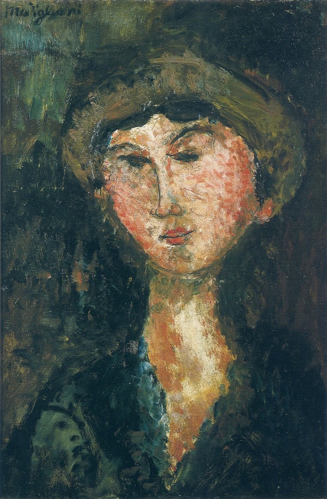 Amedeo Modigliani. Portrait of Beatrice Hastings in a hat