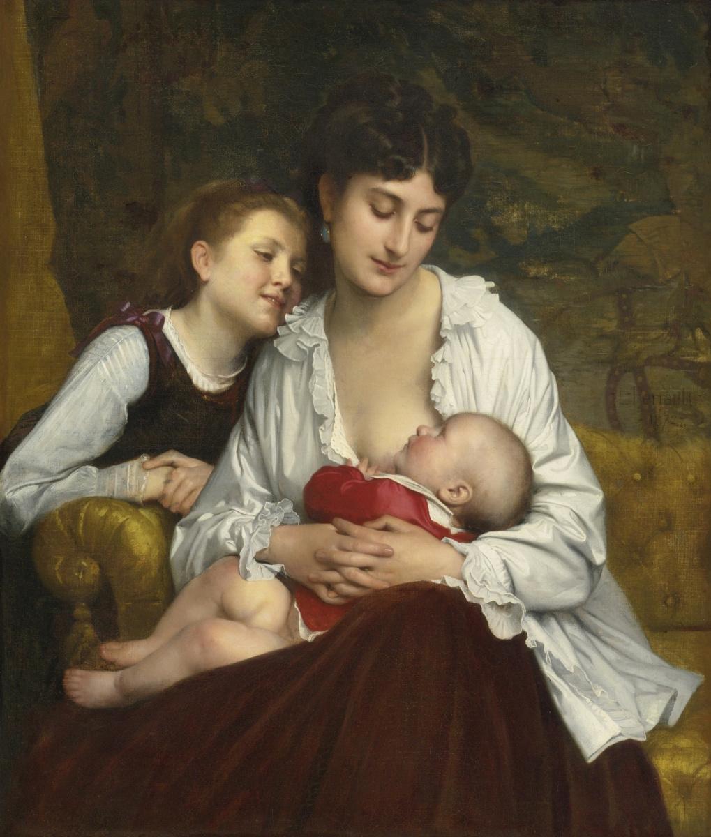 Леон Базиль Перро Франция 1832-1908. Материнская любовь.  1872