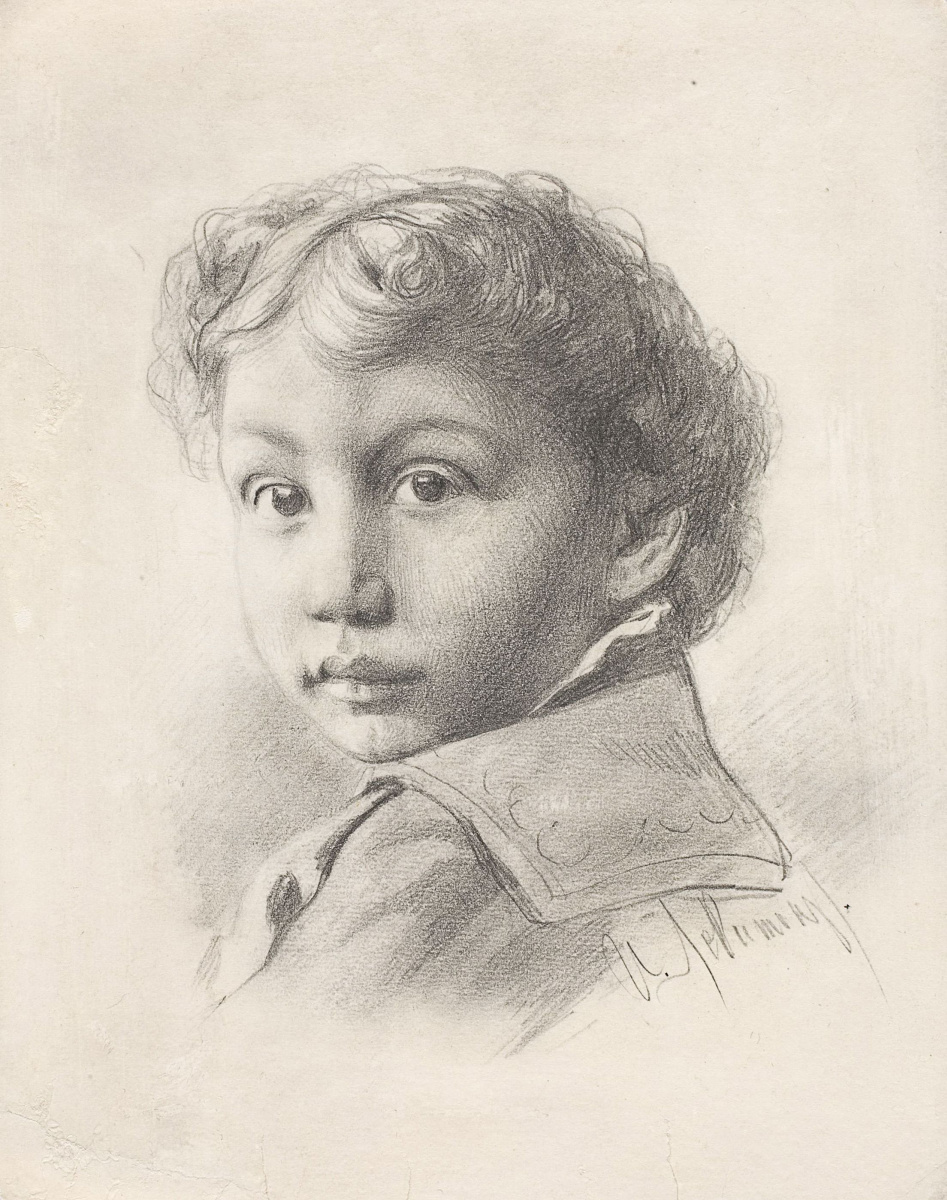 Isaac Levitan. Portrait of a boy Joseph Levin