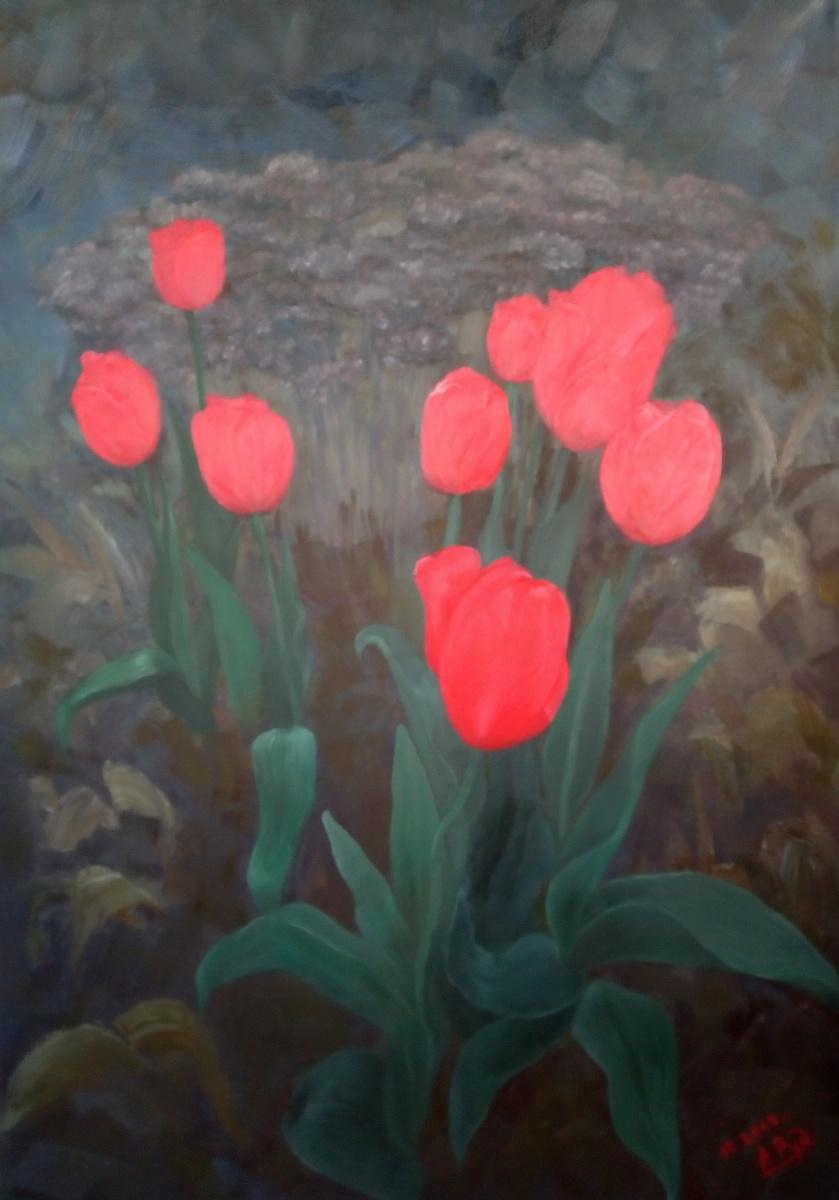 "Анастасия Александровна Руденя. ""Сумерки, сад, тюльпаны"""