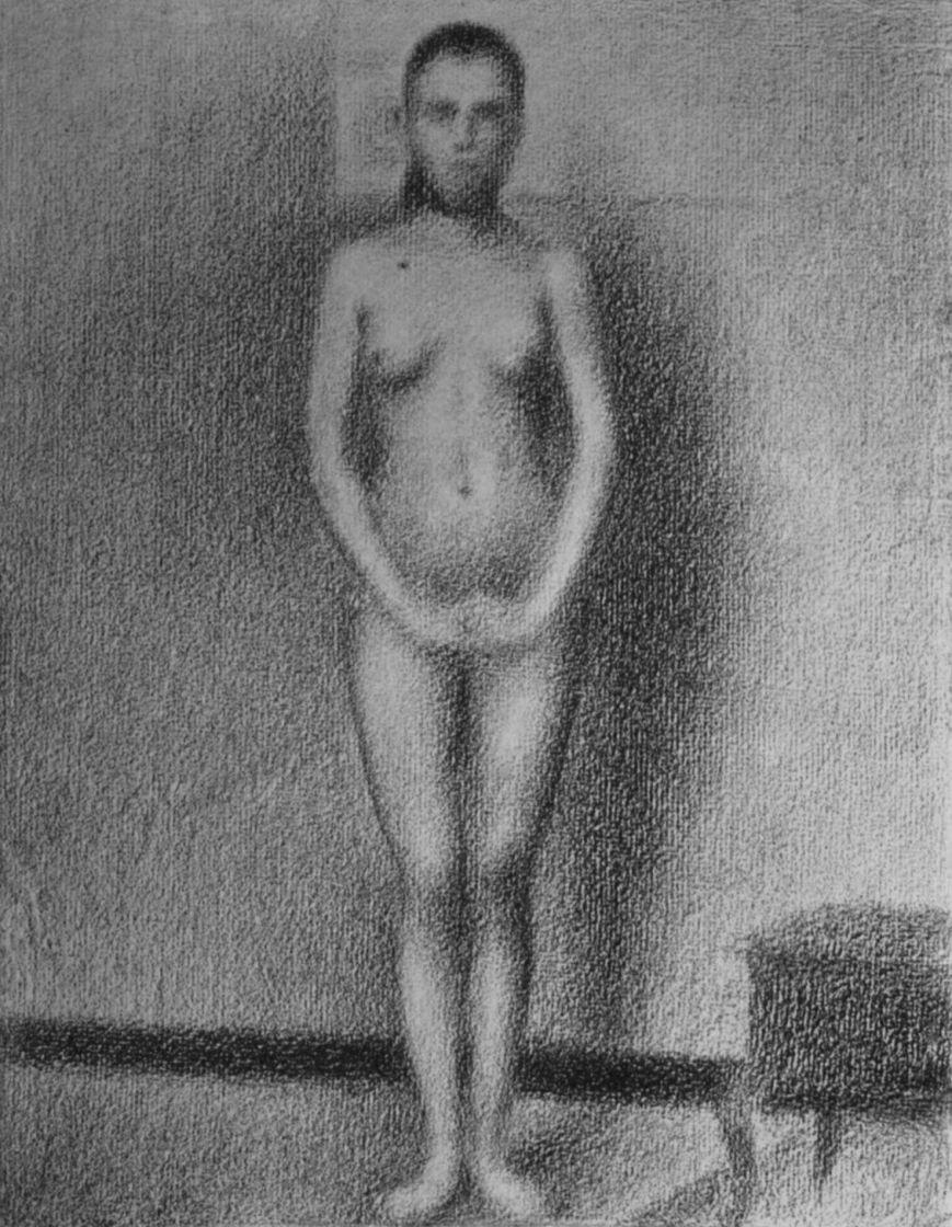 Georges Seurat. Standing model