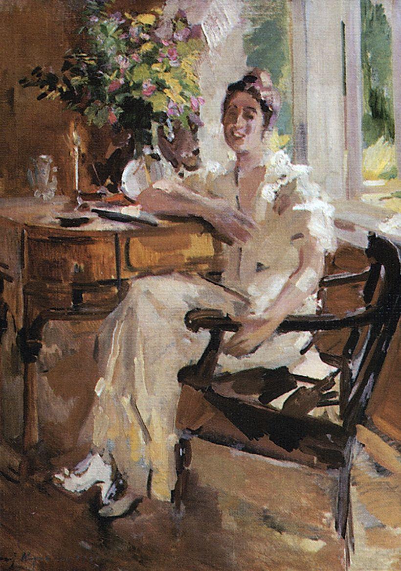 Константин Алексеевич Коровин. Дама в кресле