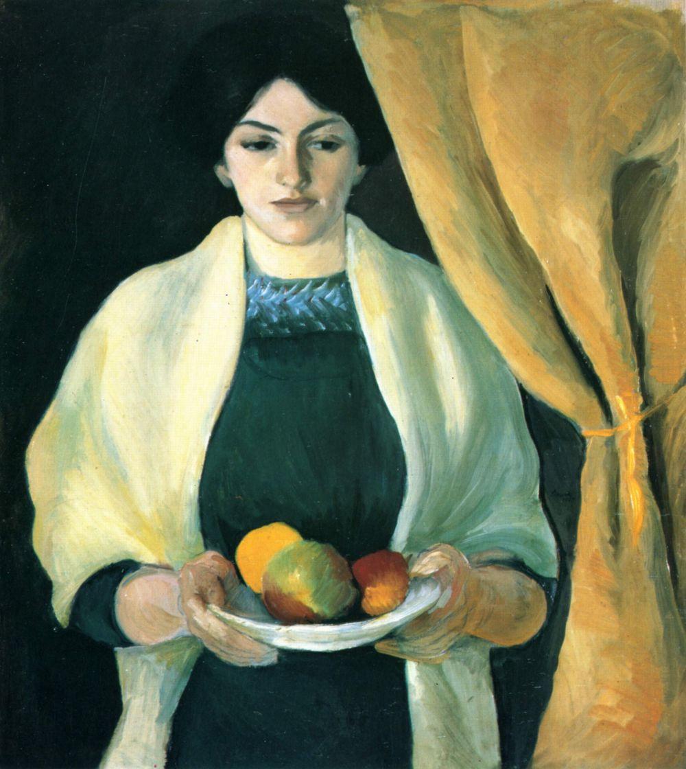 Август Маке. Портрет жены художника