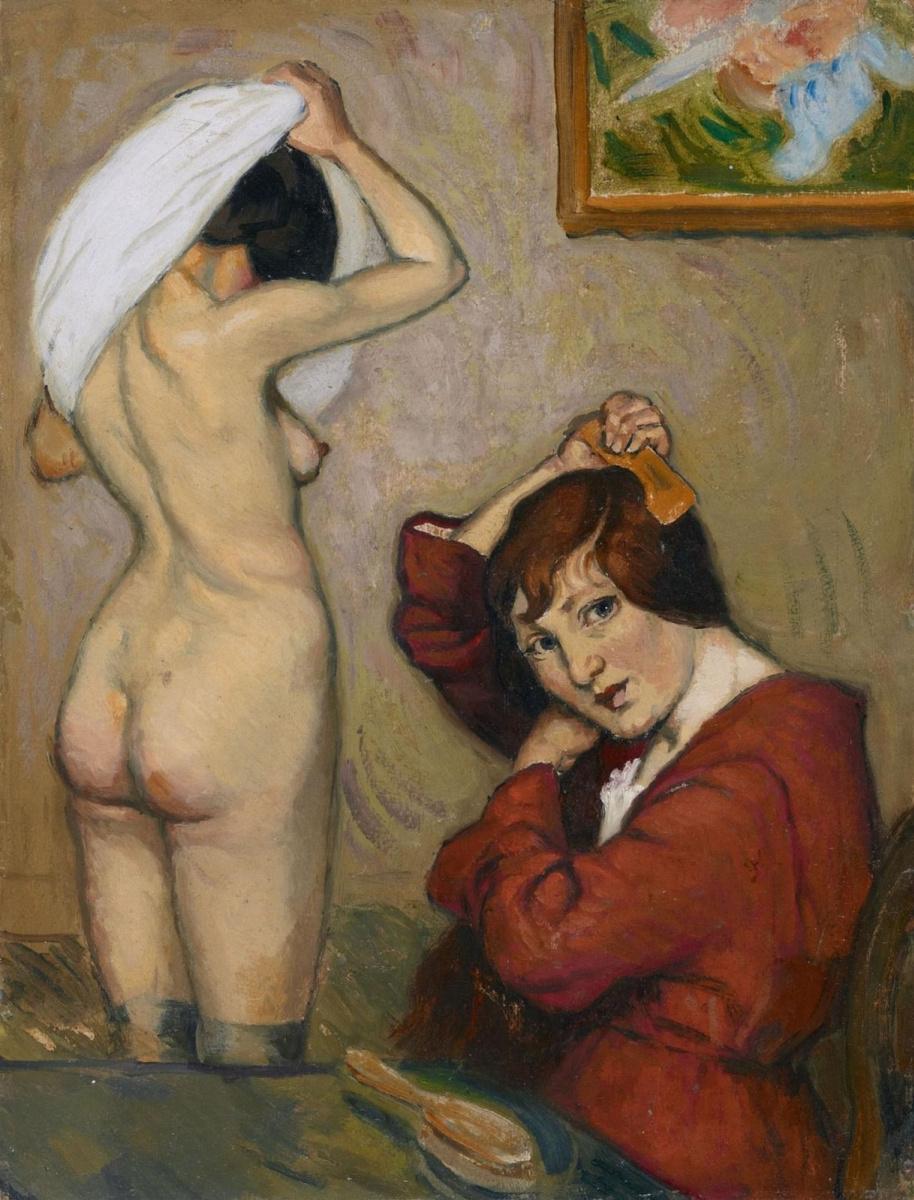 Луи Анкетен. Женщины за туалетом.  1890