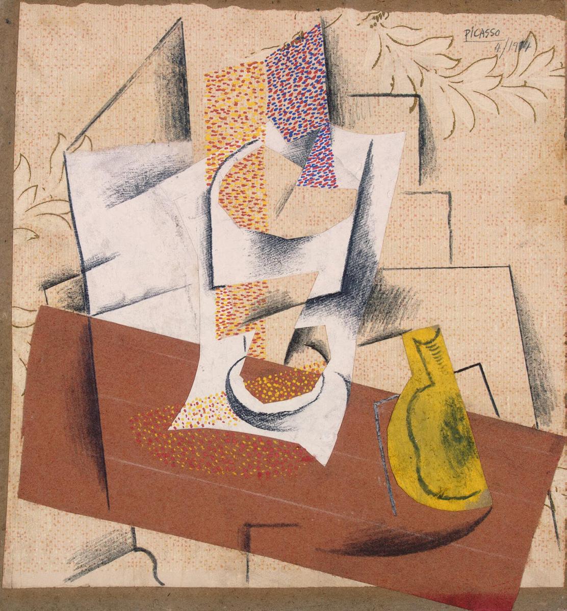Пабло Пикассо. Композиция с разрезанной грушей