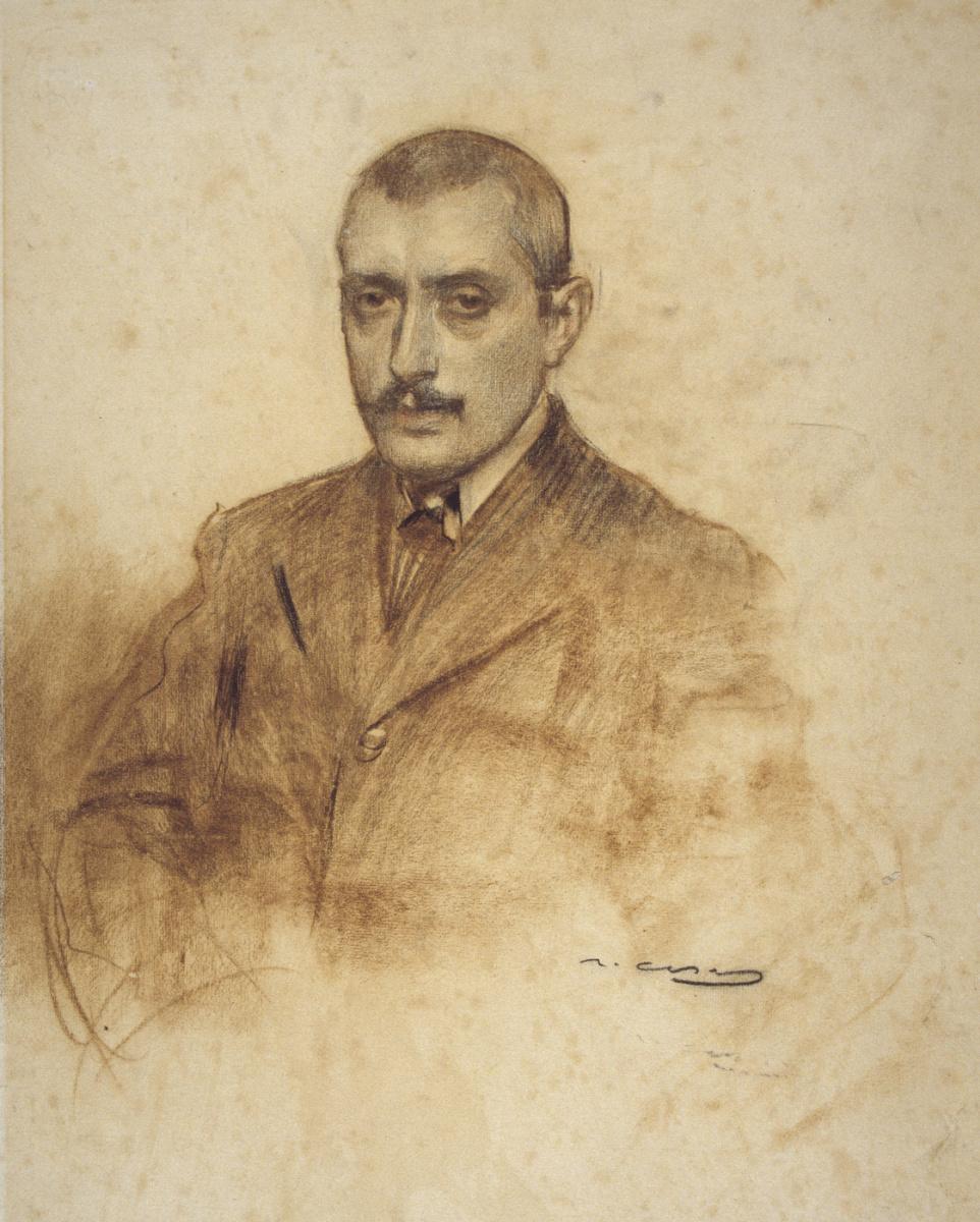 Рамон Касас Карбо. Портрет Сальвадора Алармо