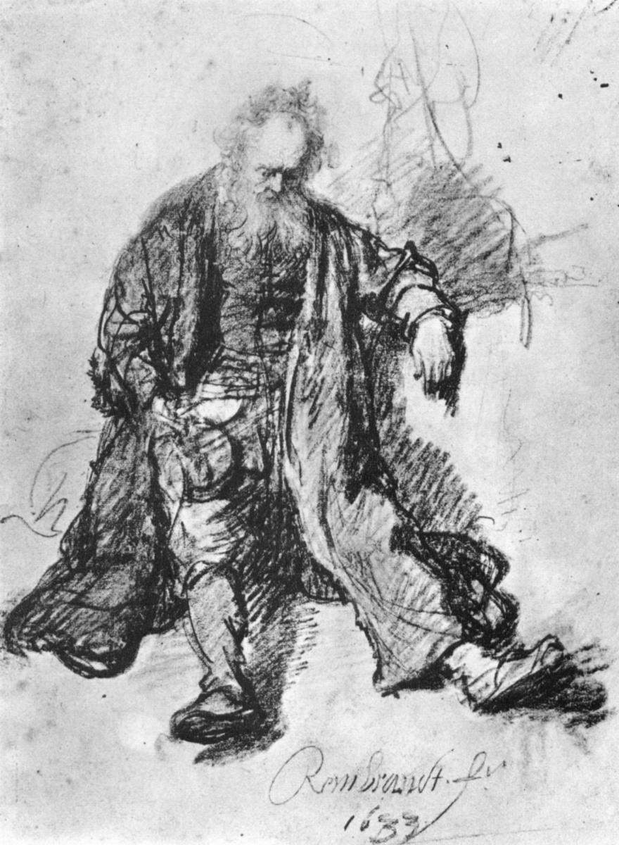 Рембрандт Харменс ван Рейн. Набросок опьяневшего Лота