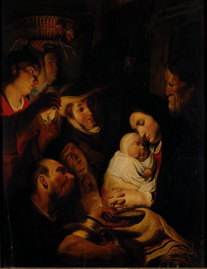 Jacob Jordaens. Adoration of the Shepherds