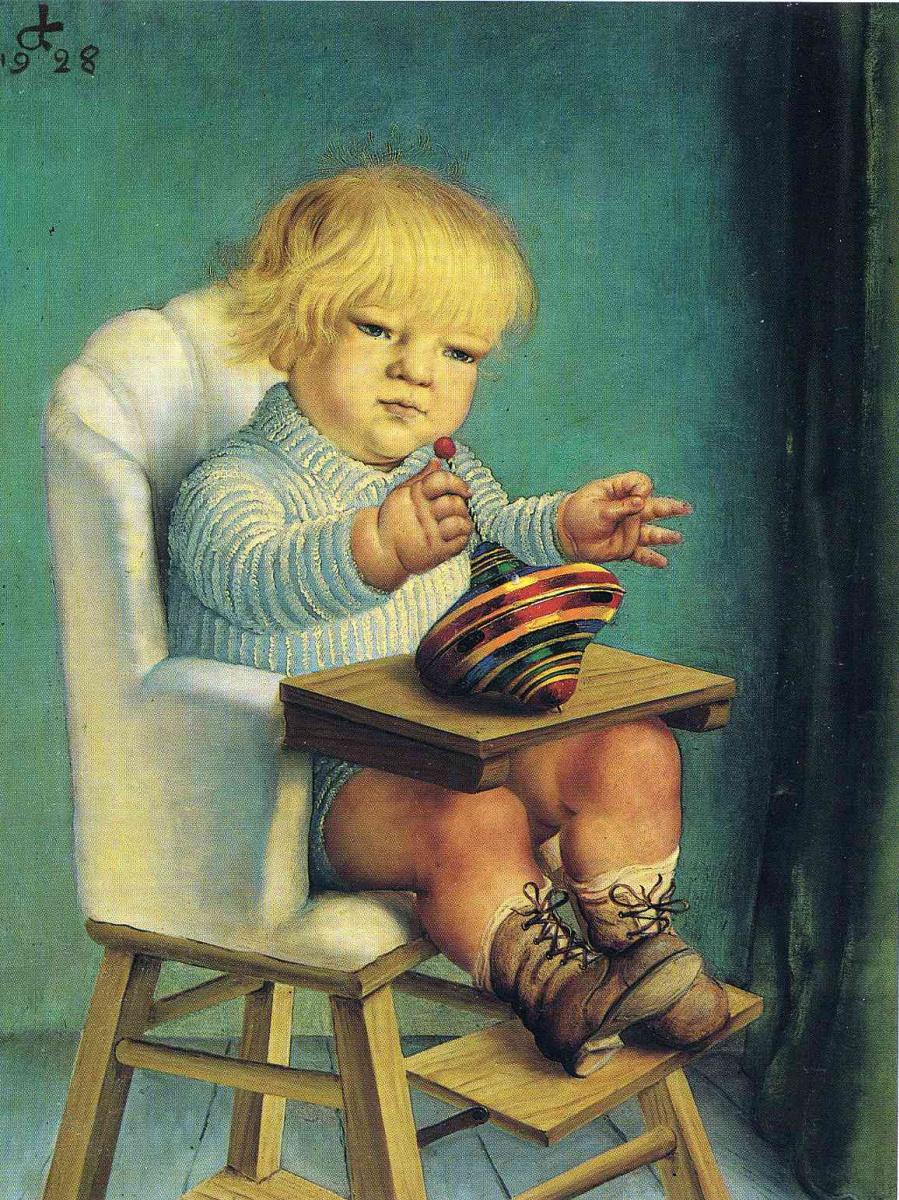 Отто Дикс. Ребенок с юлой