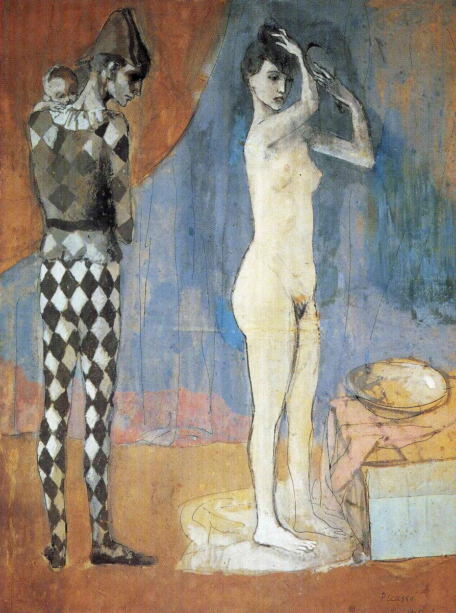 Пабло Пикассо. Семья Арлекина