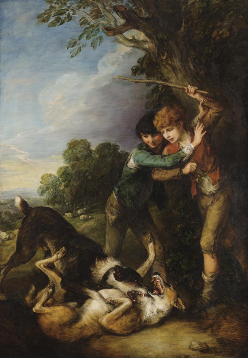 Томас Гейнсборо. Мальчики-пастухи и дерущиеся собаки