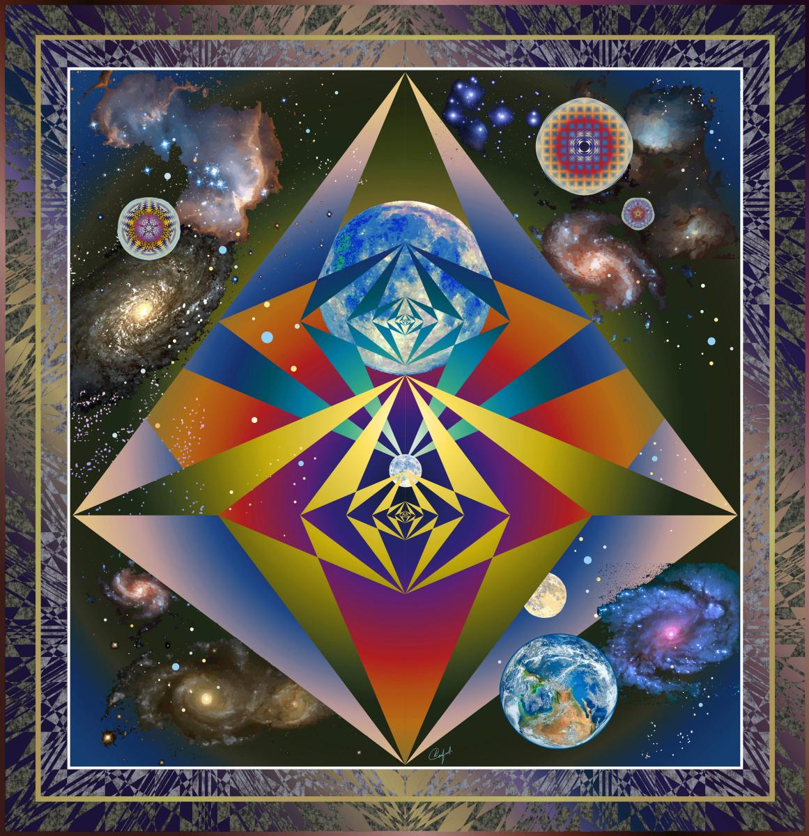 Юрий Николаевич Сафонов (Yury Safonov). «Space pyramids» - Dark energy