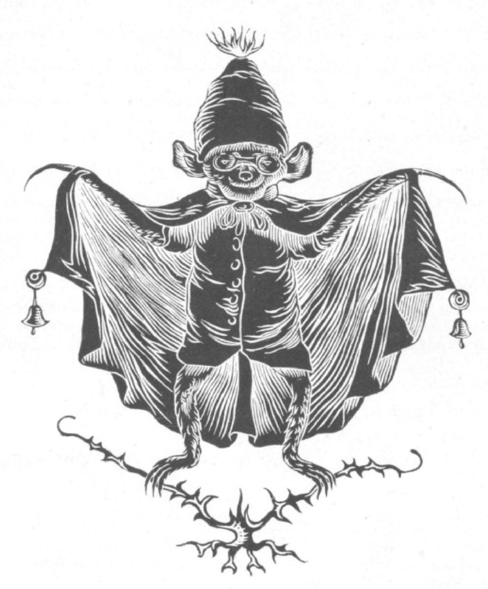 "Jean Inias Isidore (Gerard) Granville. Mature bat. ""Scenes of private and public life of animals"""