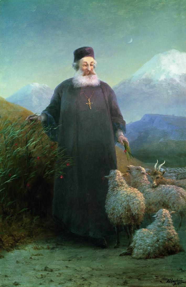 Ivan Aivazovsky. Catholicos khrimian in Echmiadzin surrounding area