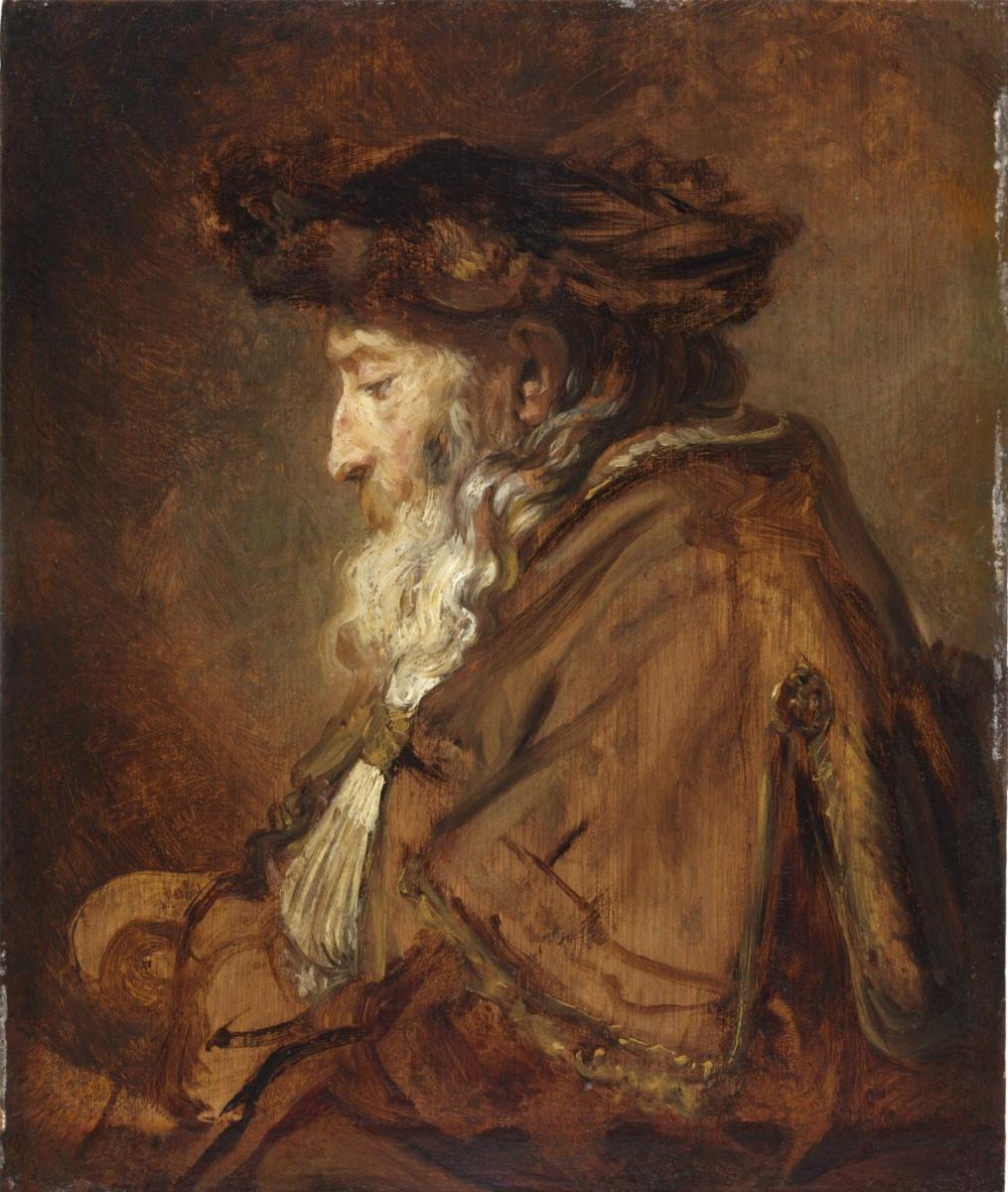 Rembrandt Harmenszoon van Rijn. Portrait of a Rabbi