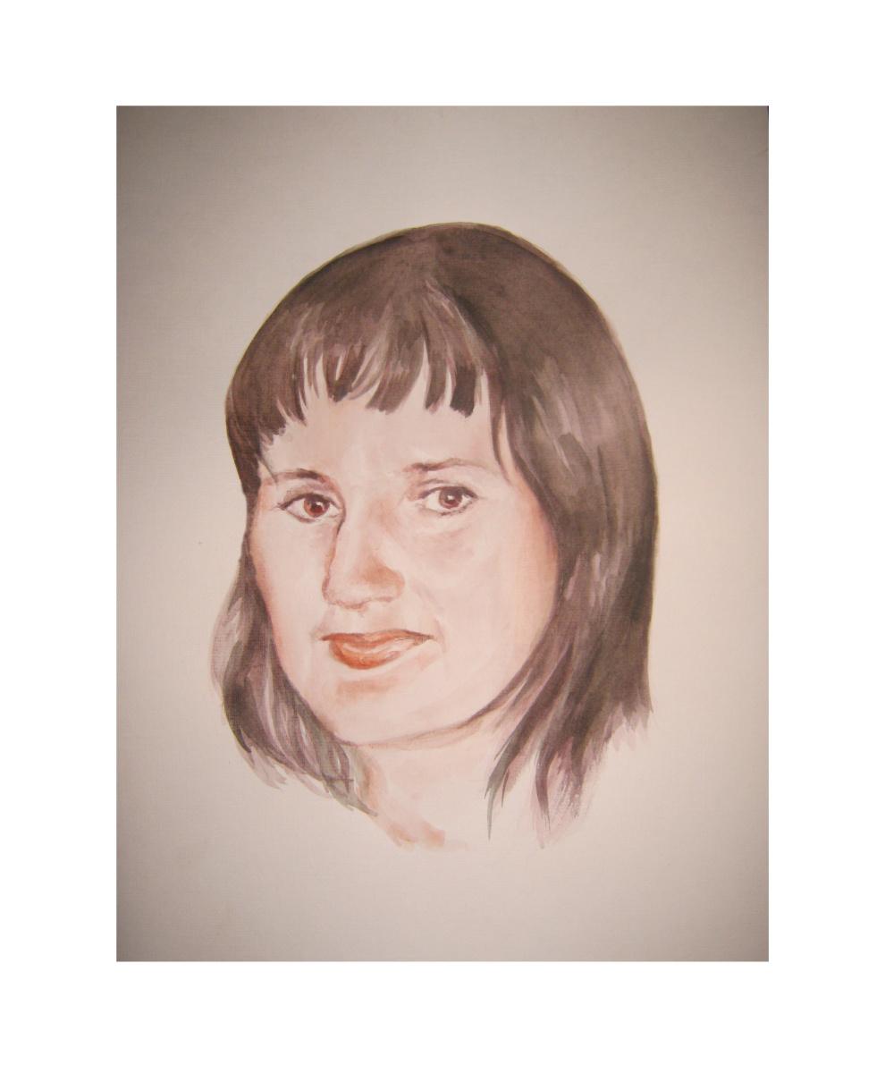 Иван Александрович Долгоруков. Акварельный портрет девушки