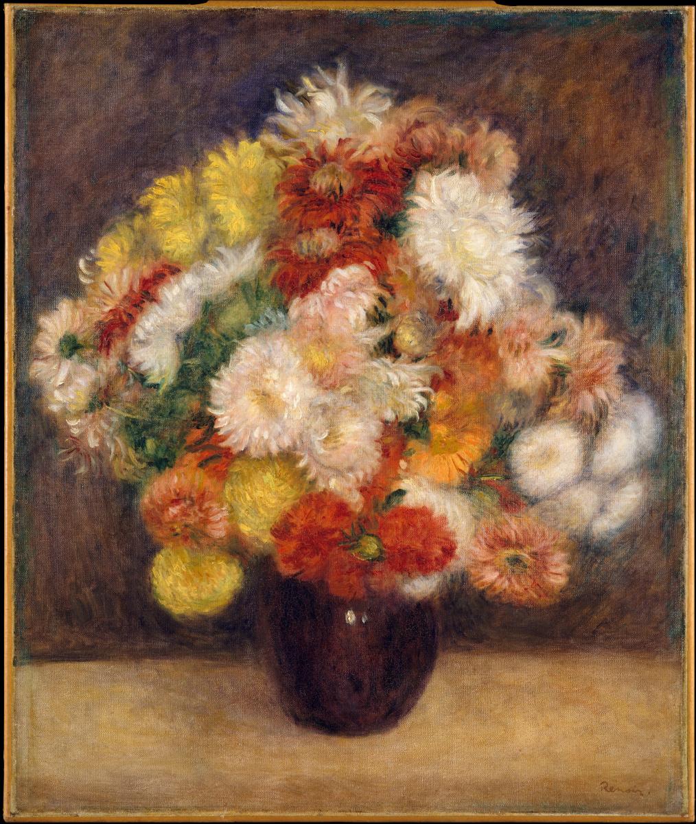 Pierre-Auguste Renoir. Bouquet of chrysanthemums
