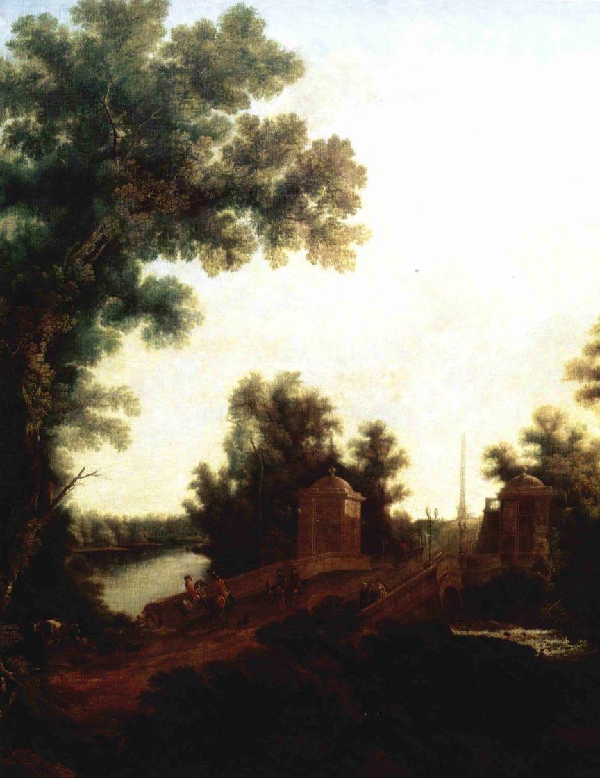 Семен Федорович Щедрин. Каменный мост в Гатчине у площади Коннетабля