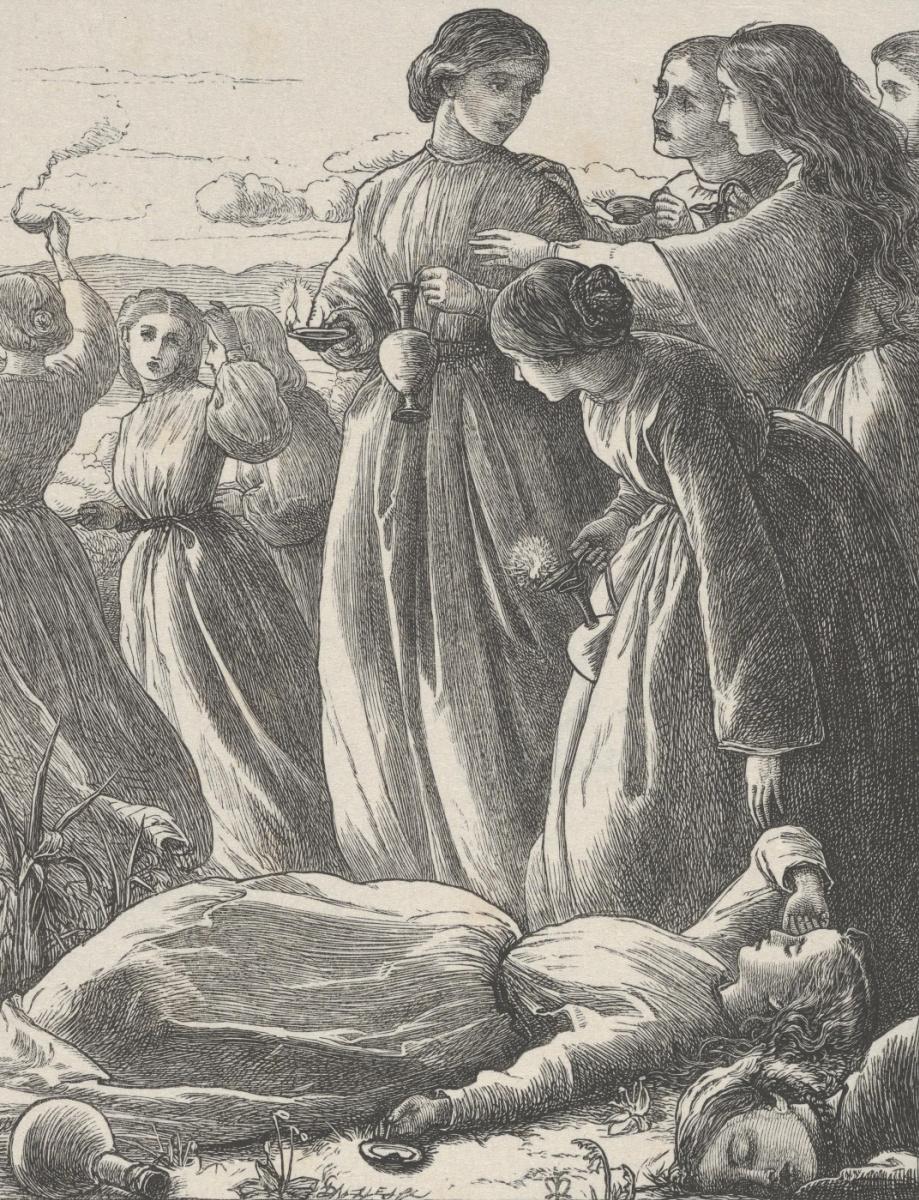 """Джон Эверетт Милле. Притча о десяти мудрых и глупых девах. """"Притчи Господа нашего и Спасителя Иисуса Христа"""""""