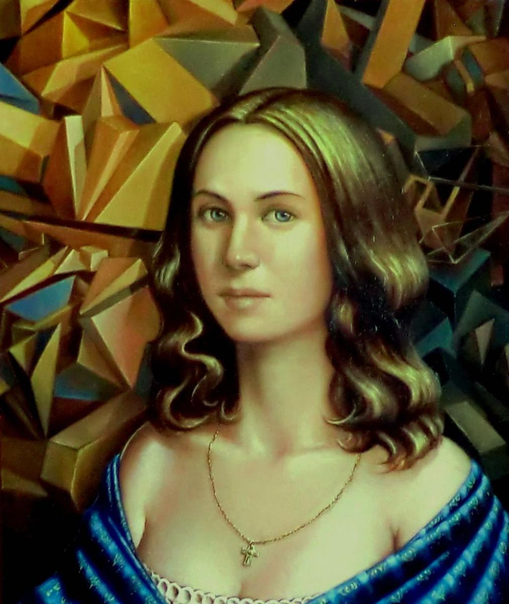 Valery Vasilyevich Litvinov. Girl with cubes
