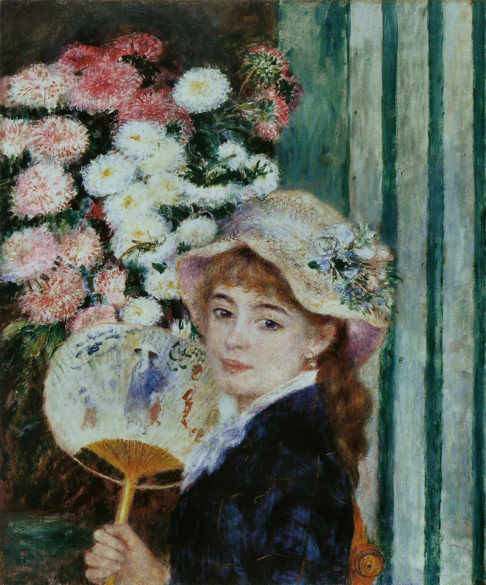 Pierre-Auguste Renoir. Girl with a fan