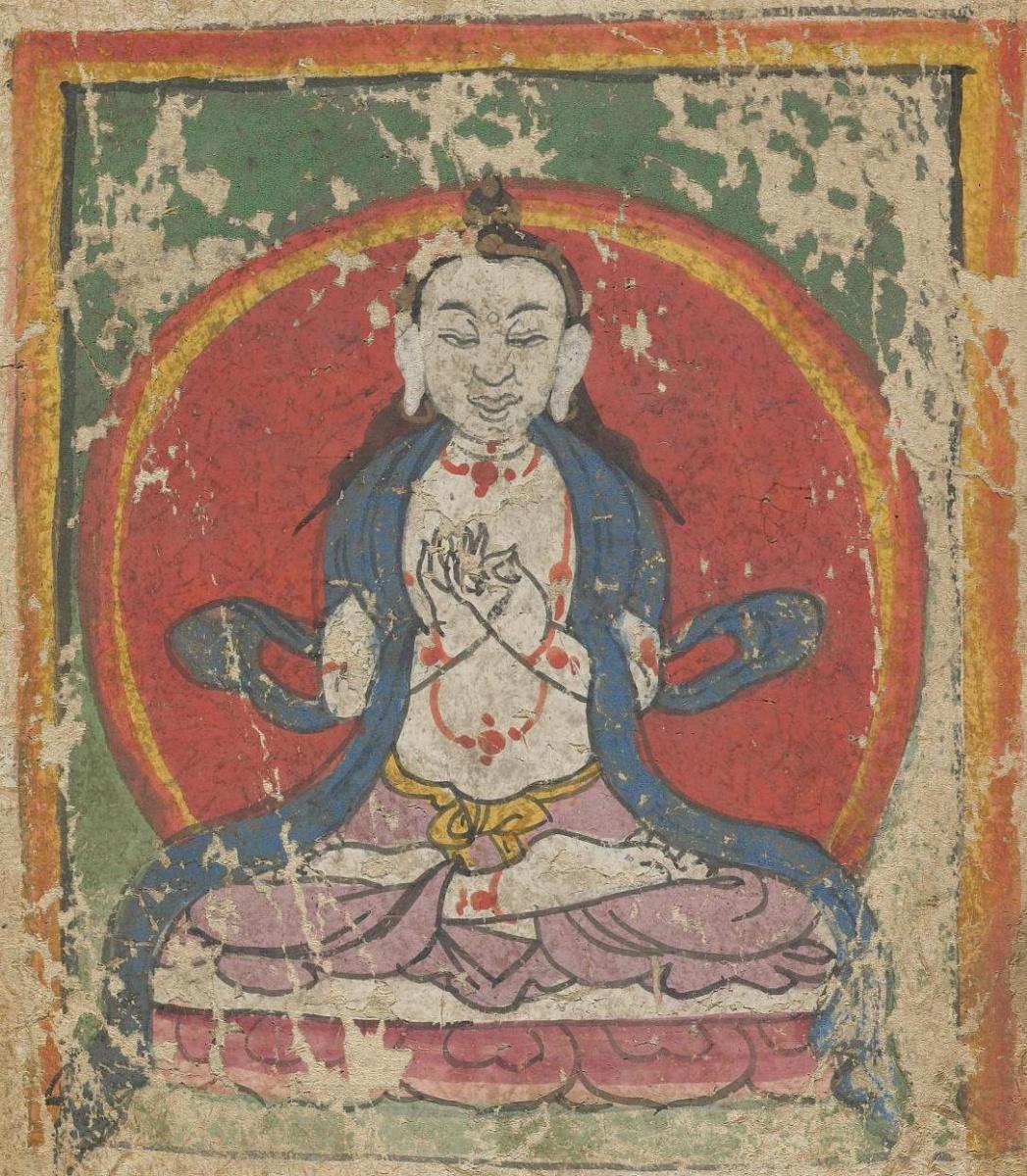 Unknown artist. The deity of the Tibetan Bon religion. Map 55