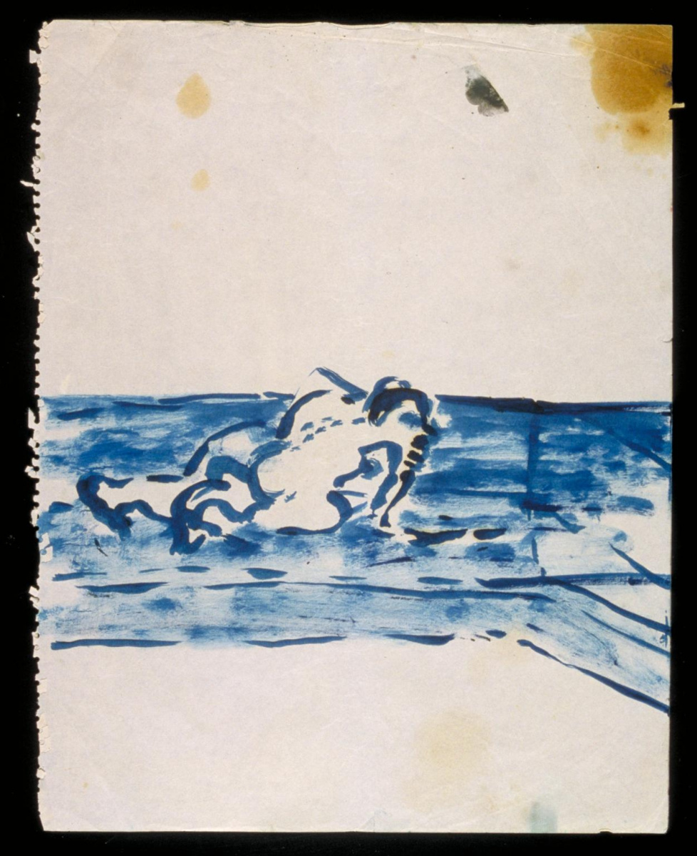 Фрэнсис Бэкон. Синий рисунок ползущего №2