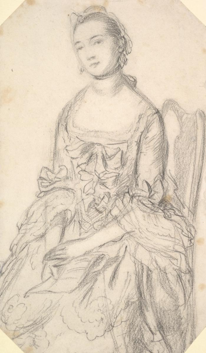Томас Гейнсборо. Портрет сидящей молодой женщины