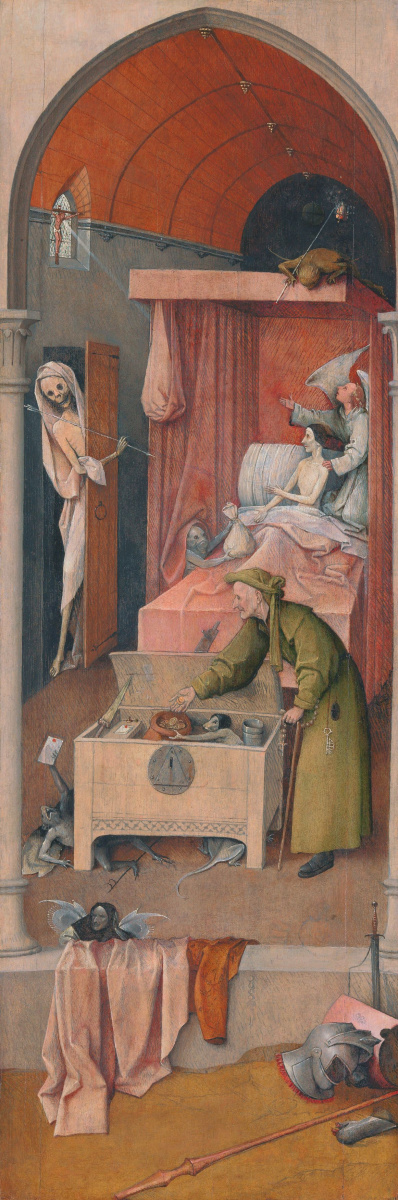 Hieronymus Bosch. The death of the miser