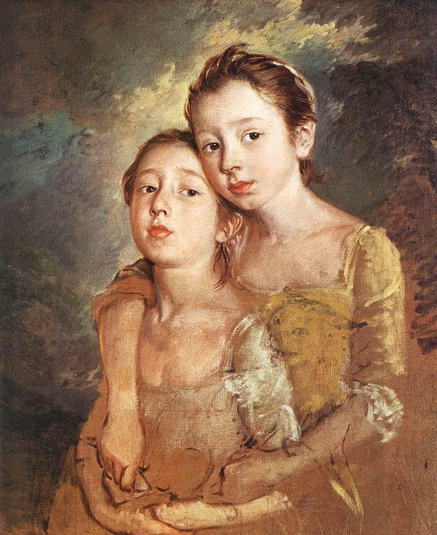 Томас Гейнсборо. Дочери художника с кошкой