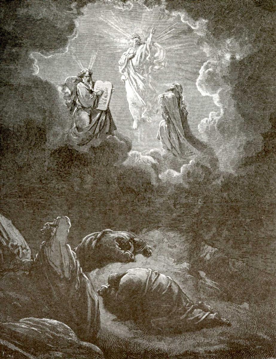 Поль Гюстав Доре. Иллюстрация к Библии: Преображение