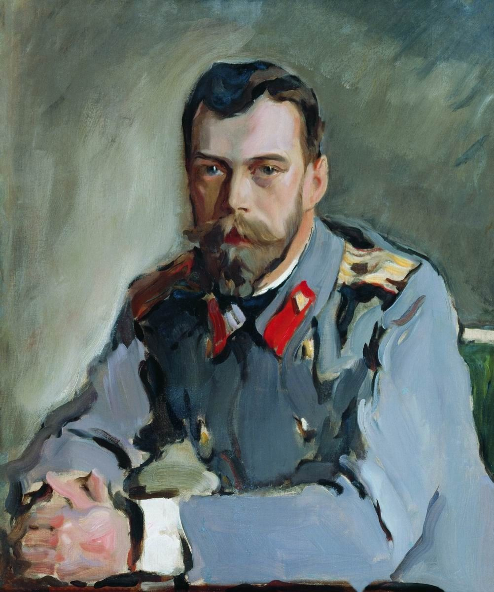 Valentin Aleksandrovich Serov. Portrait of Emperor Nicholas II (the Portrait of Nicholas II in the gray jacket)
