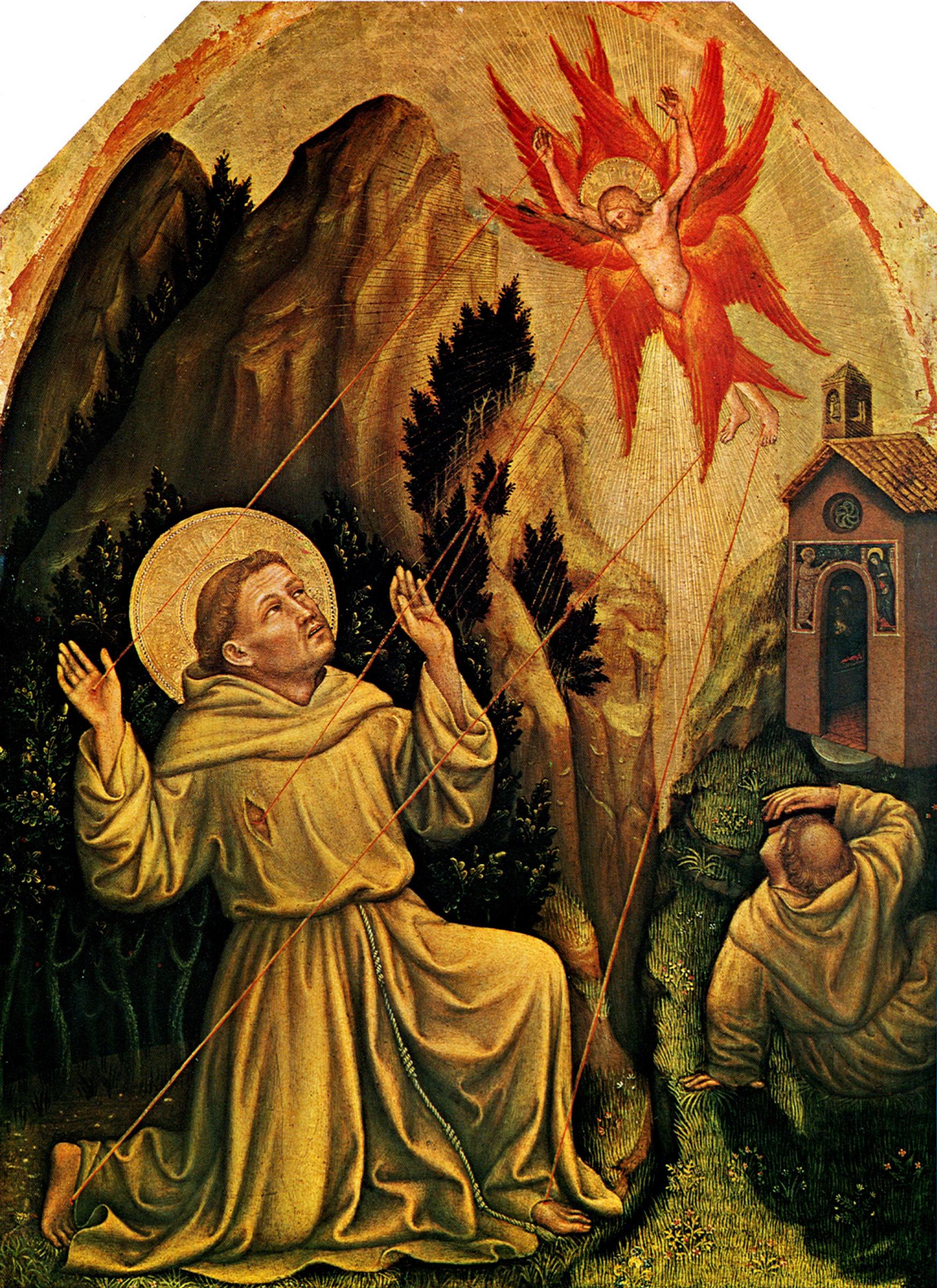 Джентиле да Фабриано. Святой Франциск получает стигматы