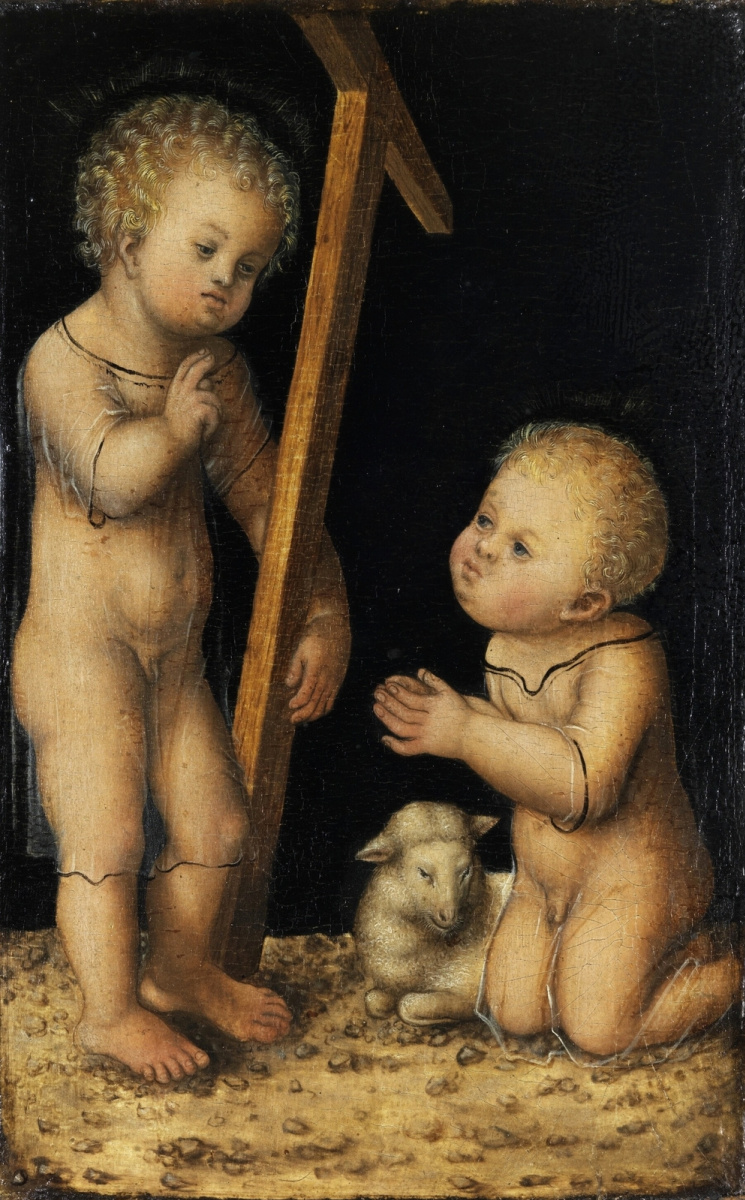 Lucas Cranach the Elder. Infants Jesus and John the Baptist