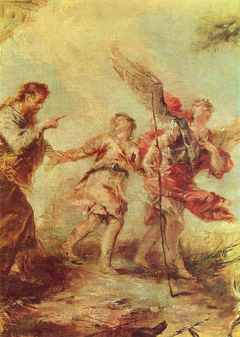 Франческо Гварди. Уход Товии, фрагмент