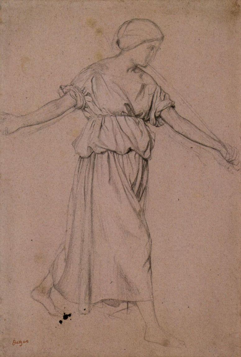 Эдгар Дега. Трубящий ангел (профиль)