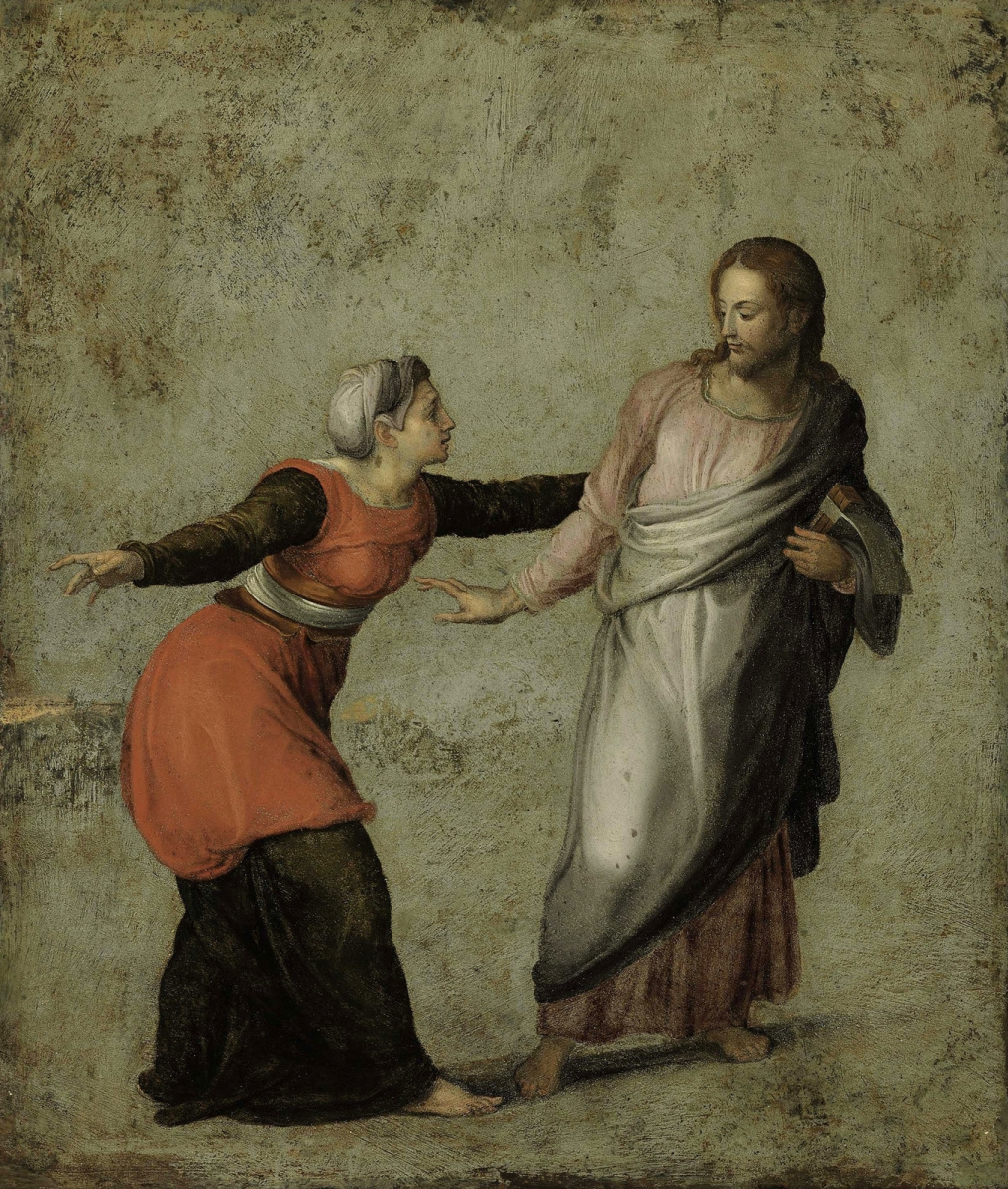 Alessandro Allori. Risen Christ and Mary Magdalene (Do not touch Me).