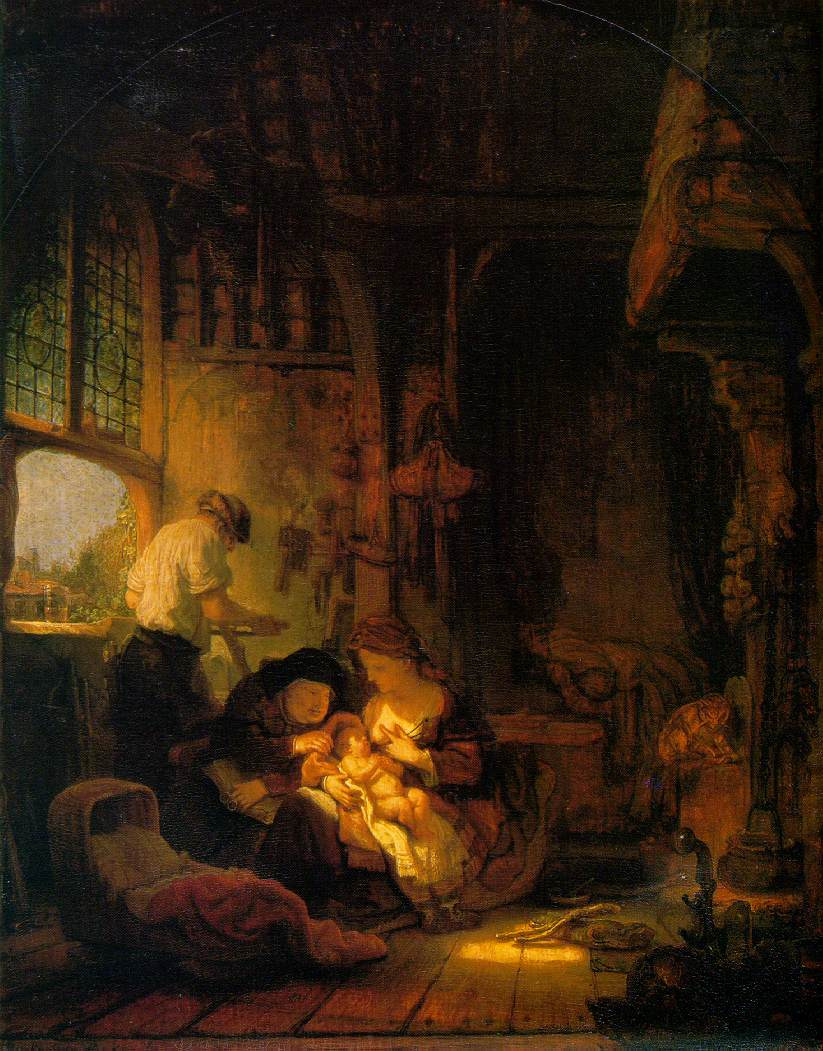 Рембрандт Харменс ван Рейн. Святое семейство со святой Анной