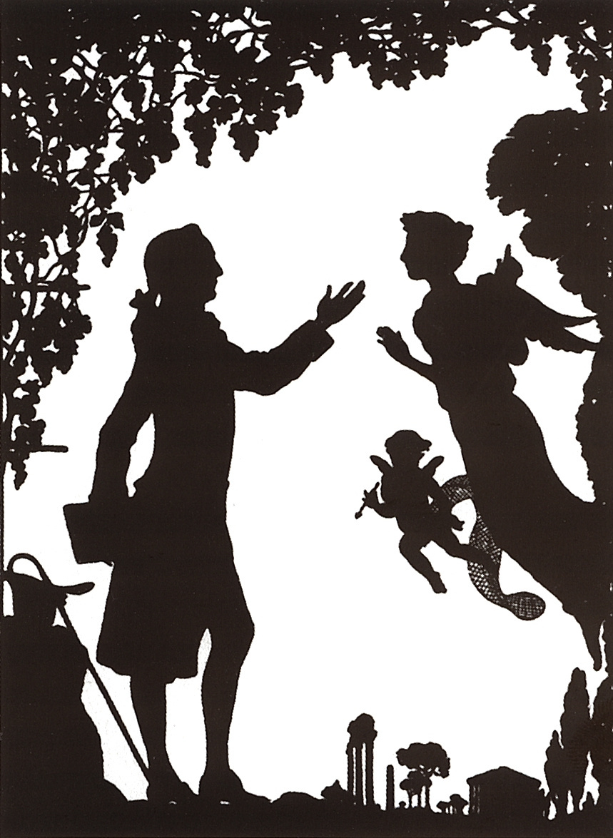 Константин Андреевич Сомов. Гете, муза и Амур. Титульный лист книги И.-В. Гете «Итальянское путешествие»
