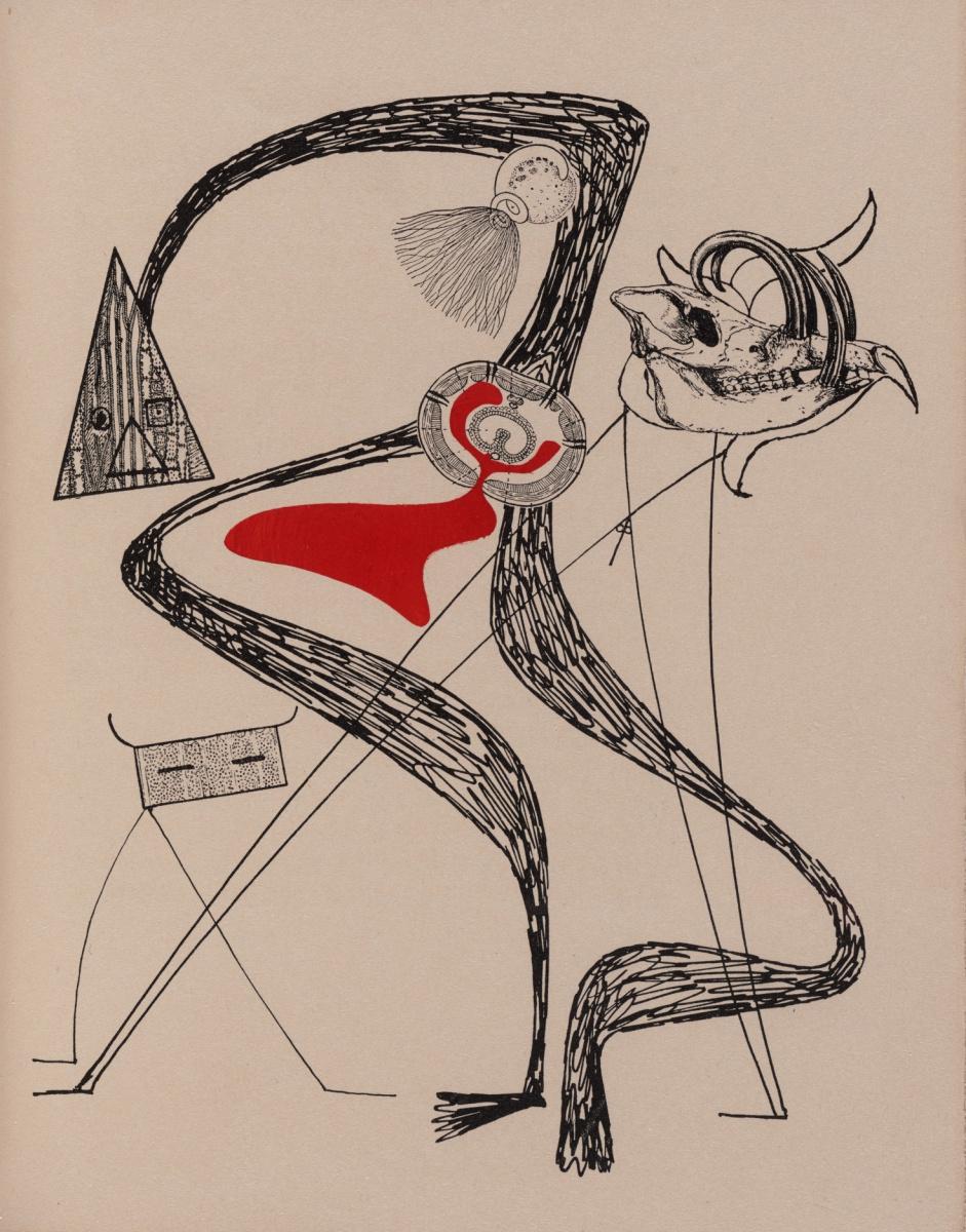 """Макс Эрнст. Иллюстрация к стихотворению Бенжамена Пере """"Галантная овца"""" II"""