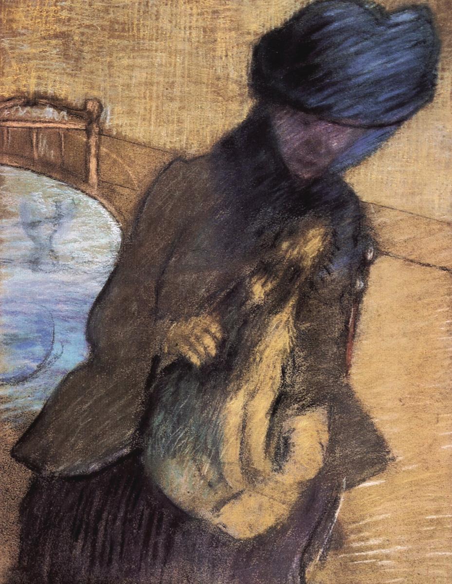 Эдгар Дега. Мэри Кассат со щенком